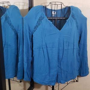 Old Navy long sleeve blue top sz-
